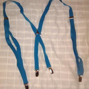 Light Blue/ Teal Braces (Suspenders) 3/4 in.